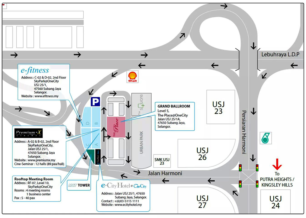 Maillist Welcome To Visit SME ASSOCIATION OF MALAYSIA Website - Usj 1 location map