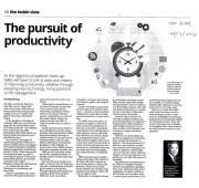 [Newspaper 28/03/2016] - The pursuit of productivity