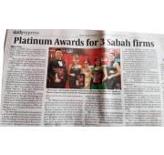 [Newspaper 25/11/2017 ] - Platinum Awards for 3 Sabah Firms
