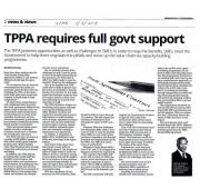 [Newspaper 1/2/2016 ] TPPA requires full govt support