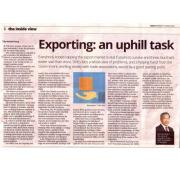 [Newspaper 14/03/2016] - Exporting : an uphill task