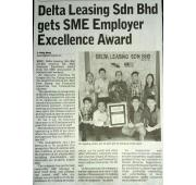 [Newspaper 3/11/2016 ] - Delta Leasing Sdn Bhd gets SME Employer Excellence Award