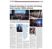 [Newspaper 18/11/2016 ] - Expand overseas to counter shrinking local market, SMEs advised