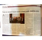 [Newspaper 11/12/2015] - Time to reward hard work is back with SMERA 2015