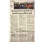 [Newspaper 9/6/2017 ] - Recognition Awards for Businesses Reflect well