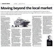 [Newspaper 18/1/2016 ] Moving Beyond the Local Market